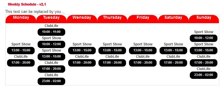 Radio / Dj Schedule - Professional Services - WEB EXPERT SERVICES Ltd